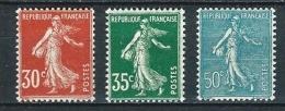 """FR YT 360 à 362 """" Semeuse Camée Et Lignée """" 1937-39 Neuf** - 1906-38 Semeuse Camée"""