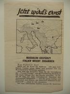 WWII WW2 Tract Flugblatt Propaganda Leaflet In German, PWE G Series/1943, Code G.54, Jetzt Wird's Ernst - Non Classificati