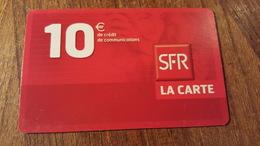 Carte Sfr La Carte 10€  Mate Carton 01 2007 - Prepaid: Mobicartes