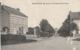 CPA 28 Sainville - L'avenue De La Gare - France