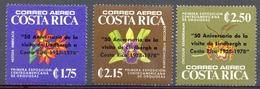 Costa Rica - 1978 - Yt 699/701 - Surcharge Lindbergh S/Orchidées - ** - Costa Rica