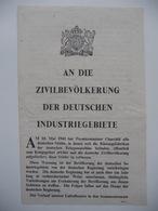 WWII WW2 Tract Flugblatt Propaganda Leaflet In German, PWE G Series/1943 Code G.69 AN DIE ZIVILBEVÖLKERUNG DER DEUTSCHEN - Non Classificati