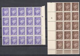France 2 Blocs De 20 Et 15 Timbres Pétain 60c. Et 80c. 1941/42 Neuf **/* (une Pointe De Rouille Sur Un Timbre De 80c.) - 1941-42 Pétain