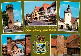 73176627 Obernburg_Main Runder Turm Roemerstrasse Oberes Tor Unteres Tor Teschen - Ohne Zuordnung