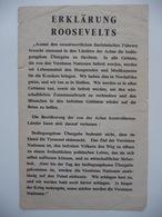 WWII WW2 Tract Flugblatt Propaganda Leaflet In German, PWE G Series/1943, Code G.73, ERKLÄRUNG CHURHILLS - Non Classificati
