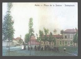 Melle - Place De La Station / Statieplaats - Begin 20ste Eeuw, Huidige Gemeenteplein - Promokaart Gemeenteverkiezingen - Melle