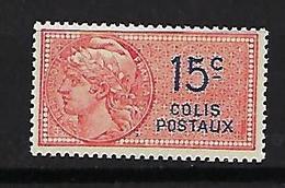"FR Colis Postaux YT 33 "" Type Daussy 15c. Rouge "" 1924 Neuf** - Paketmarken"