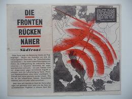 WWII WW2 Tract Flugblatt Propaganda Leaflet In German, PWE G Series/1943, Code G.77, Die Fronten Rücken Näher - Non Classificati