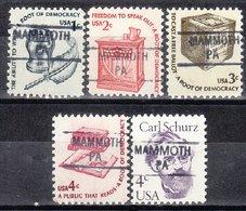USA Precancel Vorausentwertung Preo, Locals Pennsylvania, Mammoth 841, 5 Diff. - Vereinigte Staaten