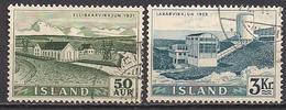 Island  (1956)  Mi.Nr.  304 + 309  Gest. / Used  (2eo33) - Usati