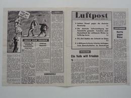 WWII WW2 Tract Flugblatt Propaganda Leaflet In German, PWE G Series/1943, Code G.78, Luftpost, Nr. 1, 20. September 1943 - Non Classificati
