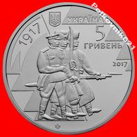 "Ukraine, 5 Hryvnia 2017, ""100 Years Since The Formation Of The Army Of Ukraine"". - Ukraine"