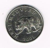 &   KROATIE  5 KUNA  MRKI  MEDVJED  2001 - Croatie