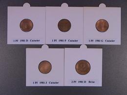 Lot AL5 : Allemagne : Collection Assez Complète Des 26 Pièces De 1981. - [ 6] 1949-1990 : RDA - Rep. Dem. Alemana
