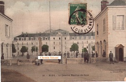 CPA BLOIS Caserne Maurice-de-Saxe  - Carte Animée - Scans Recto-verso - Blois