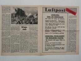 WWII WW2 Tract Flugblatt Propaganda Leaflet In German, PWE G Series/1943 Code G.79, Luftpost - Extrablatt, 25. September - Non Classés