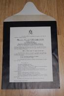 Faire Part De Décès De Messire Joseph LELARGUE Curé Le 24 Avril 1937 Montreuil-l'Argillé - Obituary Notices