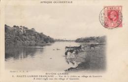 RIVIERE GAMBIE        AU VILLAGE DE GUENOTTO       + BEL AFFRANCHISSEMENT - Gambie
