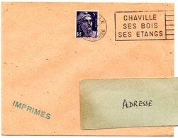SEINE Et OISE - Dépt N° 78 = CHAVILLE 1952 = FLAMME à DROITE = SECAP ' BOIS / ETANGS ' - Oblitérations Mécaniques (flammes)