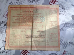 PANAMA Obligation - Actions & Titres