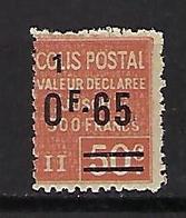 """FR Colis Postaux YT 61 """" Valeur Déclarée 65c S. 50c. (1) Rouge """" 1926 Neuf** - Paketmarken"""