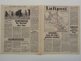 WWII WW2 Tract Flugblatt Propaganda Leaflet In German, PWE G Series/1943, G.84, Luftpost, Nr. 2, 6. Oktober 1943 - Non Classificati
