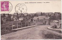 08 - NEUVILLE-DAY (Ardennes) - Vue Générale - 1935 / Garage : GAS OIL - HUILES DE GRAISSAGE BP - France