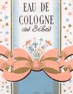 """07656 """"EAU DE COLOGNE  DES BEBES  - 1930""""  ETICHETTA  ORIGINALE. - Etichette"""