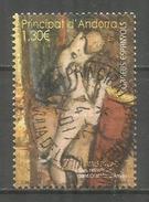 Animaux Dans L'Art. Le Chien De Saint Christophe D'Anyos, Un Timbre Nouveau Oblitéré, 1 ère Qualité, (haute Faciale) - Used Stamps