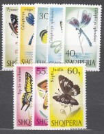 Albania Animals Insects Butterflies 1966 Mi#1048-1055 Mint Never Hinged - Albanie