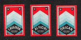 """07659 """"AI FIORI  -  MERYBELL - MILANO -1925""""  NR. 3 ETICHETTE  ORIGINALI - Etichette"""