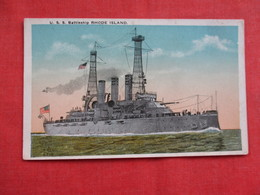 U.S.S. Battleship Rhode Island Ref 2938 - Warships