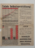 WWII WW2 Tract Flugblatt Propaganda Leaflet In German, PWE G Series/1943, G.88, Totale Selbstvernichtung! Type I - Non Classificati