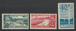 Danzig / 125 Jahre Ostseebad Börsen / MiNr. 259-261 - Abstimmungsgebiete