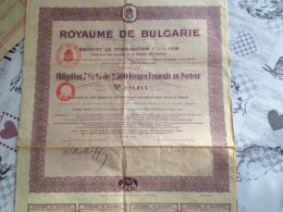 Obligation Royaume De Bulgarie - Andere