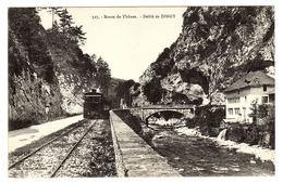 DINGY SAINT CLAIR  (74) - Route De Thônes - Défilé De DINGY - TRAIN - Ed. A. Gardet, Annecy - Dingy-Saint-Clair