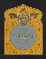 """07665 """"EAU DE COLOGNE - IMPERIALE RUSSE - PERFUMERIA OBYCA - CARACAS - 1910 CIRCA - DECORO RILIEVO E ORO"""" ETICH  ORIG - Etichette"""