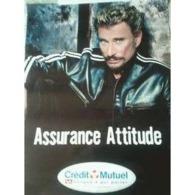 "Johnny Hallyday "" Crédit Mutuel "" - Manifesti & Poster"