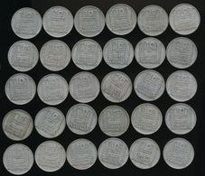 30 Pièces De 10 Francs Type Turin Argent 6 De 1930 / 6 De 1931 / 6 De 1932 / 6 De 1933 Et 6 De 1934 - France