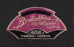 """07667 """"BRILLANTINA CRISTALLIZZATA EXTRA - C. MUSSO C. - TORINO-GENOVA - 1920 CIRCA"""" ETICHETTA  ORIGINALE - Etichette"""