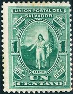 EL SALVADOR, FIGURE ALLEGORICHE, 1889, FRANCOBOLLI NUOVI (MLH*) Scott 21 - El Salvador