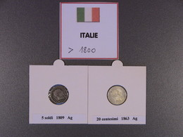 Lot IT1 : Italie : Très Beau Lot De 7 Pièces Du 19° Siècle : 1809, 1863, 1867, 1894. Estimation 45 €. En Prix Fixe à 35 - Italie