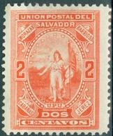 EL SALVADOR, FIGURE ALLEGORICHE, 1889, FRANCOBOLLI NUOVI (MLH*) Scott 22 - El Salvador