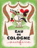 """07670 """"EAU DE COLOGNE SUPERFINE - 1925 CIRCA"""" ETICHETTA  ORIGINALE - Etichette"""