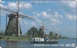Japan Phonecard 290-437 Windmühlen Windkraft  Moulins à Vent  Windmills - Landschaften