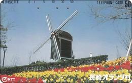 Japan Phonecard 390-378 Windmühlen Windkraft  Moulins à Vent  Windmills - Landschaften