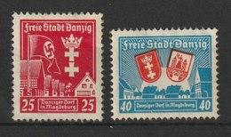 Danzig / Errichtung Eines Danziger Dorfs In Magdeburg / MiNr. 274, 275 - Abstimmungsgebiete