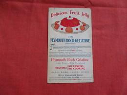 Delicious Fruit Jelly  Plymouth Rock Gelatine Co  Boston Massref 2938 - Publicité