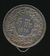 SUISSE 5 Francs 1874 B  Voir 2 Scans - Switzerland