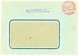 """NORDHORN"" Gebühr Bezahlt K 2 Rot Landrat Des Kreises Bentheim Oktober 1945 - Zona AAS"